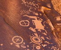 Petroglyphs at Newspaper Rock in Petrified National Park